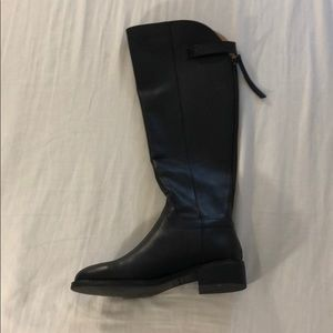Franco Sarto tall black leather boots